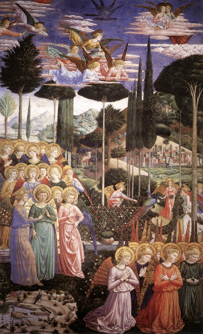 Angels Worshipping Benozzo Gozzoli - left side of the chancel