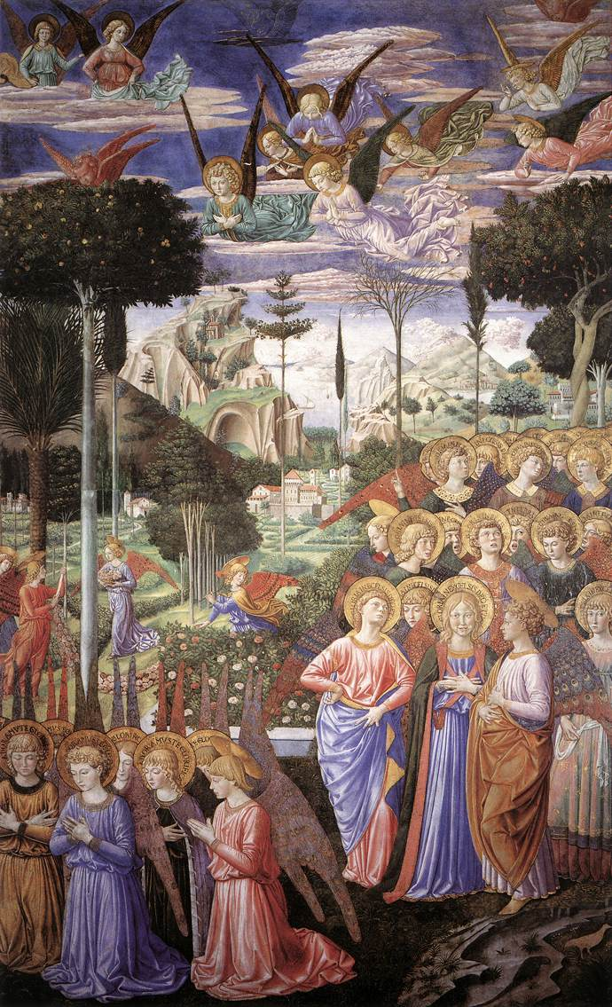 Angels Worshipping Benozzo Gozzoli - right side of the chancel
