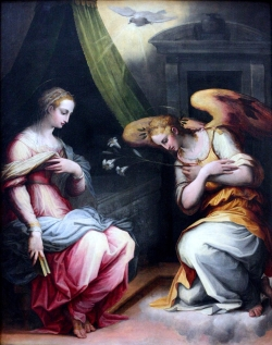 Succulent Wallpaper The Annunciation Vasari