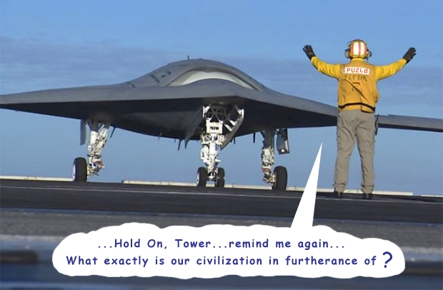 Unmanned US Navy X-47B Killer Drone