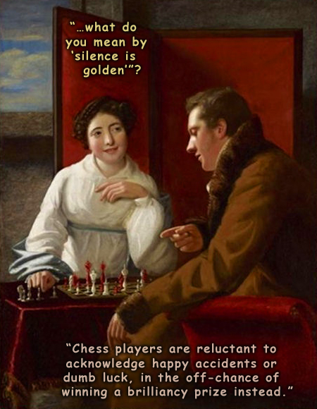 Philosophical dialog about chess players.